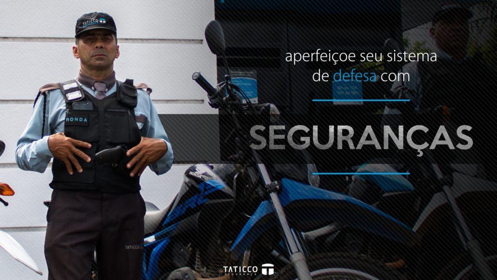 Um bom profissional de segurança da Taticco Segurança em exercício da função