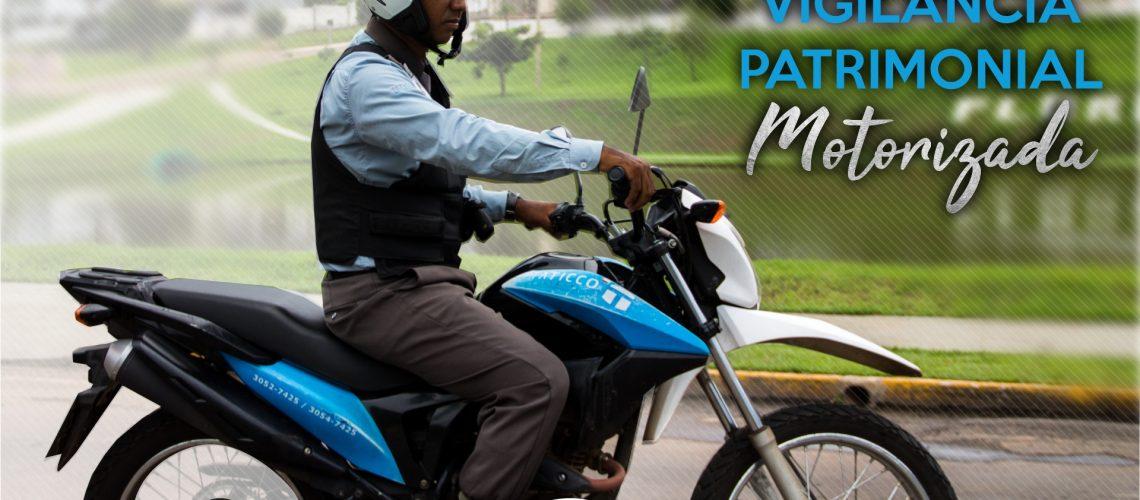 profissional da VIGILÂNCIA PATRIMONIAL MOTORIZADA da taticco segurança